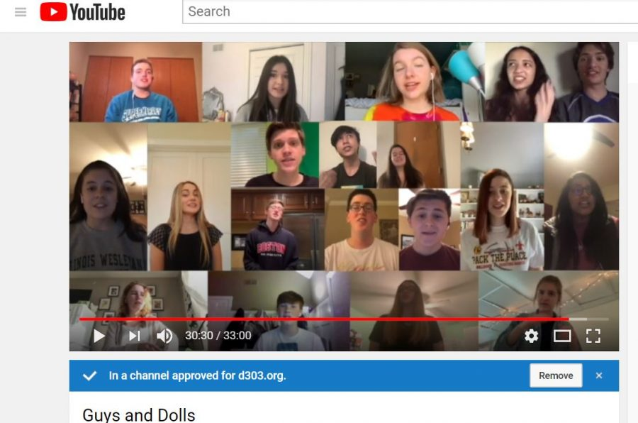 The cast of the spring musical provides a Youtube production of their performance.