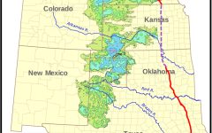 Map showing the Ogallala Aquifer and the planned pipeline.