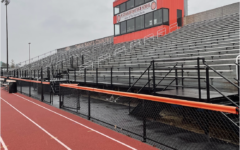 The East stands have been empty of fans for over a year. With new IHSA regulations, they will once again seat spectators. Photo by Katie Kempff.