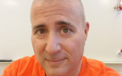 English teacher Anthony Gagliardi sports a new look after shaving his head.