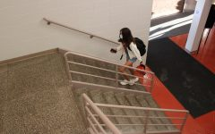 Walking the steps while getting ready for the first day of the new school year. Photo courtesy by Kate Vassos.